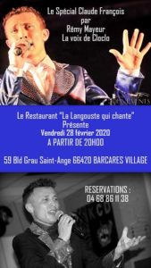 Chanteur Cloclo Rémy mayeur