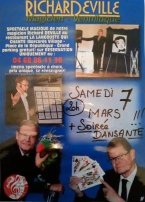 Diner spectacle 66 La Langouste qui Chante Le Barcares